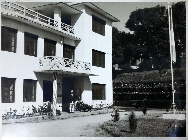 A view of the building which houses the offices of the United Nations Technical Assistance Board and information Centre in Kathmandu, Nepal. --- KATHMANDU, Nepal, November 1964.